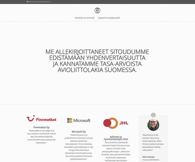 #metahdomme Suomeen tasa-arvoisen avioliittolain!